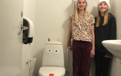 Julebag og toiletpynt